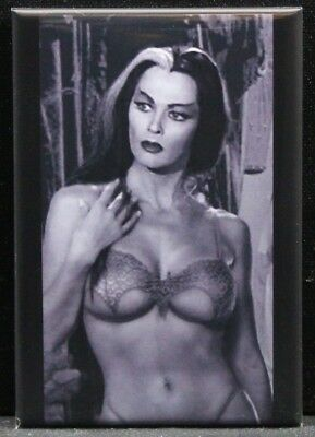 "Sexy Lily Munster Pinup 2"" X 3"" Fridge / Locker Magnet. GGA"