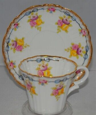 Royal Albert Crown China Floral Teacup & Saucer Set
