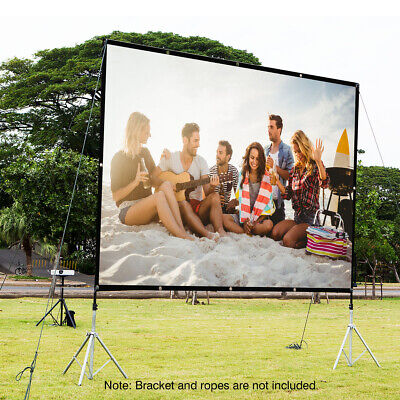 """100"""" Portable Projection Screen 16:9 Indoor/ Outdoor Projector w/ Hanging Hole"""