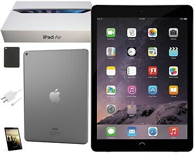 Apple iPad Air Bundle | 9.7-inch, 16GB | Space Gray | Open Box | Wi-Fi Only