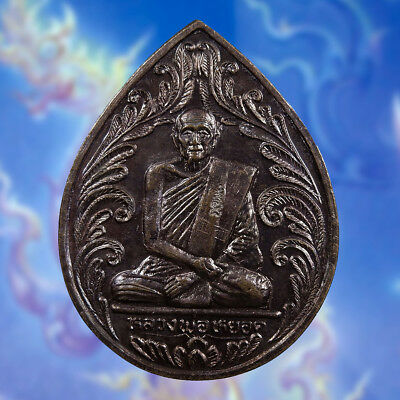 Genuine Thai Amulet Coin Phra LP. Yot Life Protect Wealth Magic Talisman Lucky