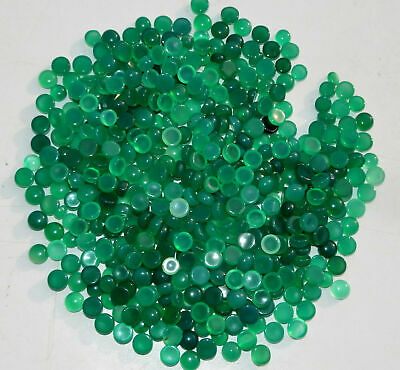 Natural royal Green chalcedony 4mm 5mm 6mm 8mm 10mm 12mm round cabochon gemstone
