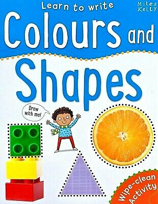 Learn To Write, Colours & Shapes, Children's Wipe Clean Activity, Miles Kelly