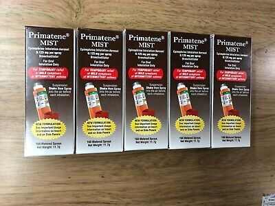 LOT OF 5 Primatene Mist inhalation Aerosol Asthma Relief 160 Metered Sprays 9/20