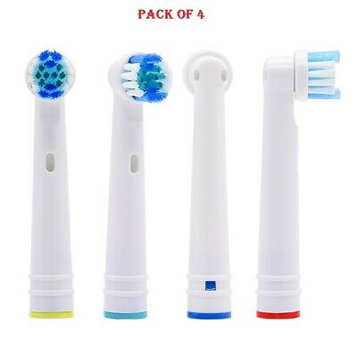 Oral B Toothbrush Heads Compatible With Oral B Electric Toothbrushes Pack of 4