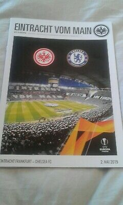 Eintracht frankfurt v Chelsea Europa league SemiFinal 2019 Plus Team Sheet.
