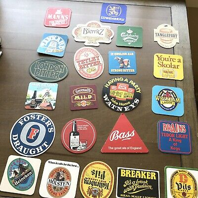 Vintage Some Modern Lot of 23 Mixed Pub Beer Advertising Drink Bar Coasters