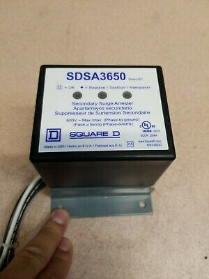 Square D SDSA3650 Secondary Surge Arrester 600v  1-yr Warranty