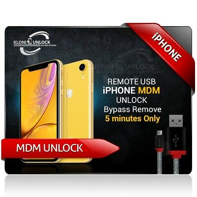 REMOTE IPHONE MDM UNLOCK Bypass Remove 5 MINUTES