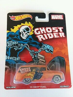 2016 Hot Wheels Pop Culture Marvel Ghost Rider '55 Chevy Panel Real Riders M/M