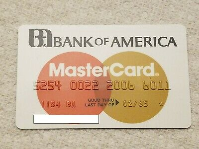 VINTAGE Exp 1985 MasterCard Credit Card Bank of America Unsigned CC CLOSED Star