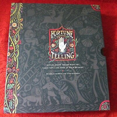 Fortune Telling Kit tarot cards,  & palm reading book by Fairchild and Paschkis