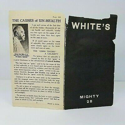 George Starr White's Mighty 28 Adv Pamphlet For Health Library Books Quack Med