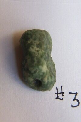 Ancient precolumbian jade bead-mezcala-aztec-maya- approx 500 years old