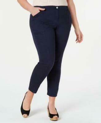 Style & Co Womens Plus Size Skinny Pants Industrial Blue 24W