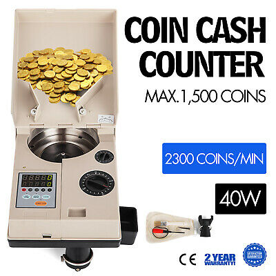 Electronic coin change sorter coin counter counting machine for most countries s