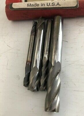 """6 CARBIDE END MILLS 1//2/"""" DIA LOT OF"""
