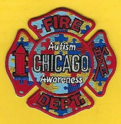 Chicago Fire Department Autism Awareness Patch ~ Illinois ~ Outstanding Patch