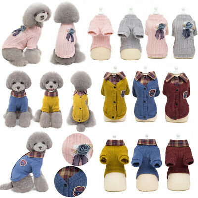 2019 New Cute Warm Pet Clothing Sweater Dog Cat Puppy Clothes Apparel Costume