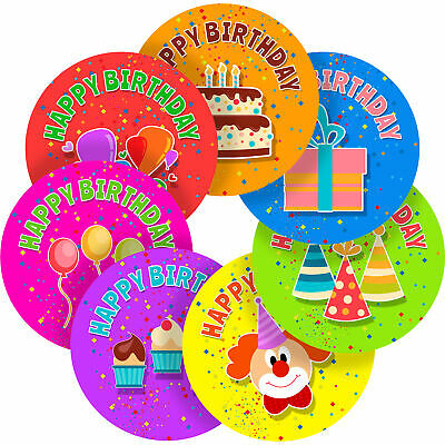 Happy Birthday Sticker Labels Children Teacher Praise Parent School