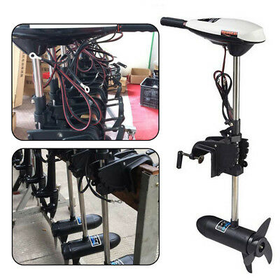 12V 65LBS Electric Trolling Outboard Motor Inflatable Fishing Boat Engine 660W