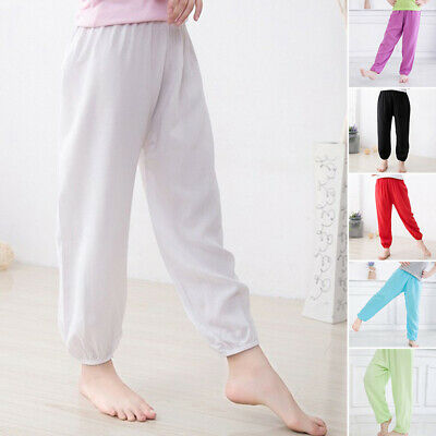 Harem Pants Trousers Kids Costume Dance Bloomers Toddler Solid Color Elastic