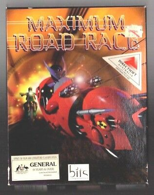 Maximum Road Race. PC Game. 1990's Vintage Retro Big Box. New and Complete.