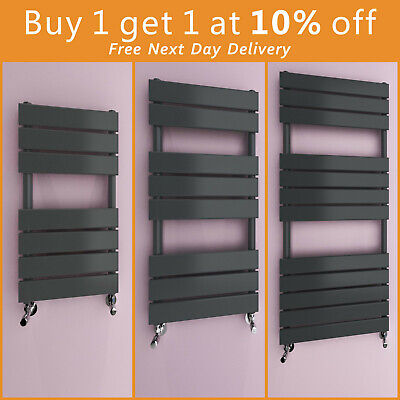 Modern Design Flat Panel Heated Towel Rails Bathroom Ladder Radiator Anthracite