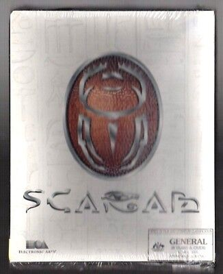 Scarab. PC Game. 1990's Vintage Retro Big Box. New and Complete.