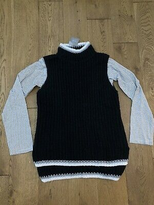 Bnwt Next Boys Girls 2 Peice Set Crew Neck Top And Sleeveless Jumper Age 10 Year
