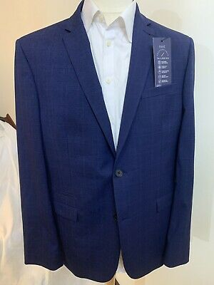 Bnwt Mens Next Performance Tailoring Blue Slim Fit Jacket Blazer Size 44 L