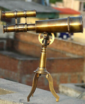 Antique Telescope With Stand Kelvin And Hughes London 1915