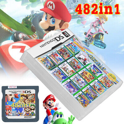 482 in 1 Game Cartridge Console Game Card for Nintendo NDS NDSL 2DS 3DS NEW3DSLL