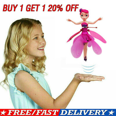 Flying Fairy Princess Dolls Magic Infrared Induction Control Toy Kids Xmas Gift-