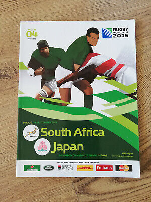 South Africa v Japan 2015 Rugby World Cup Programme