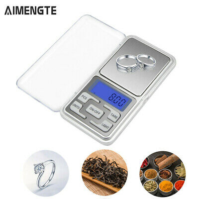 Digital Pocket Gram Scales Jewelry Weight Electronic Balance Scales Kitchen LCD