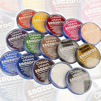 Snazaroo Professional 18ml Face Body Painting Classic Colours Paint Fancy Dress