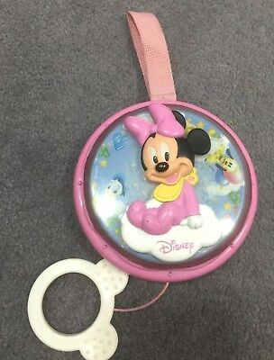 Disney Minnie Mouse Baby Girl Music Activity Toy Pink Pram Pull Lullaby Sound
