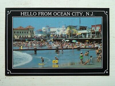 Hello From Ocean City, New Jersey Nj Vintage Postcard