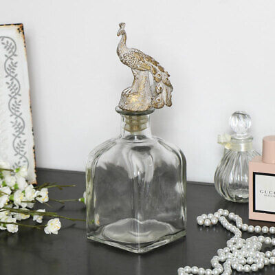 Glass perfume bottle decanter vintage shabby chic gift accessories decorative