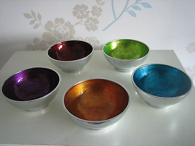 """Razzle-Dazzle"" Bowl - Recycled Aluminium with Sparkling Colours!"