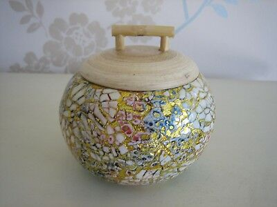 Bamboo Pot - Eggshell Spun with Glowing Colours!