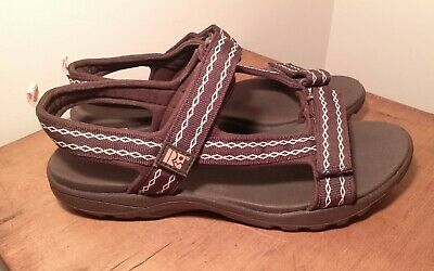 RUGGED OUTBACK SANDALS Shoes Womens Size 11 M 44 Brown Synthetic Hookloop Euc