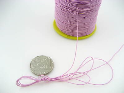 60ms 1mm Pink Round Elastic Stretchy Thread hat Beading jewellery craft elastic