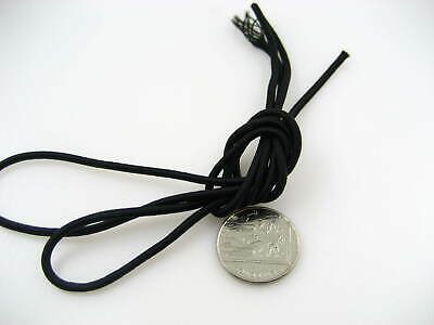 25ms 3mm black Round Elastic cord sewing accessories 3mm stretch bungee cord