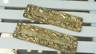 Antique Embossed Brass Rococo / French Designed Air Vents - Reclaimed