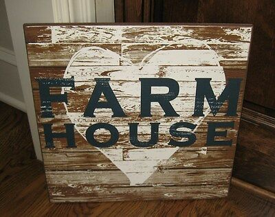 HEART Farm House Wood Wall SIGN*Primitive/French Country Kitchen Farmhouse Decor