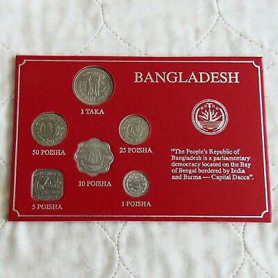 BANGLADESH 6 COIN UNCIRCULATED SET - cased