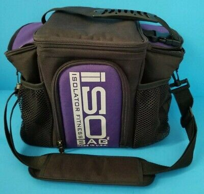 Isolator Fitness Isobag 3 Meal Meal Prep Insulated Lunch Bag Cooler 4 Containers