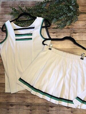 Vintage Womens Lily's Of Beverly Hills Tennis Outfit Set Size Large